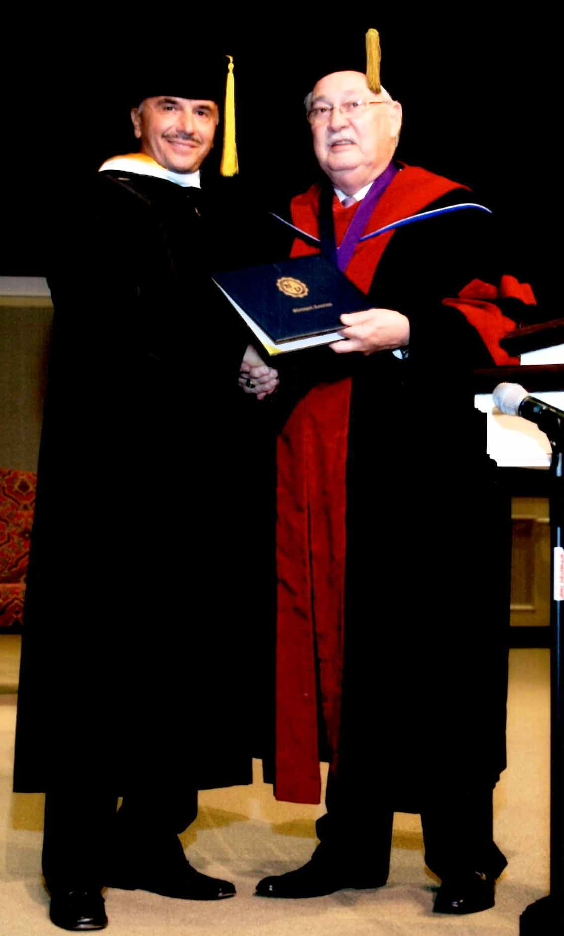 Ehrendoktowürde Dr. Leonard Coldwell der Luisianna Baptist University © 2002-2018 Dr. Leonard Coldwell