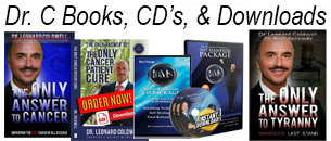 Dr C downloads books cds Dr Leonard Coldwell the only answer to cancer