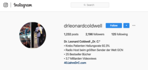 Instagram Dr. Coldwell Europa